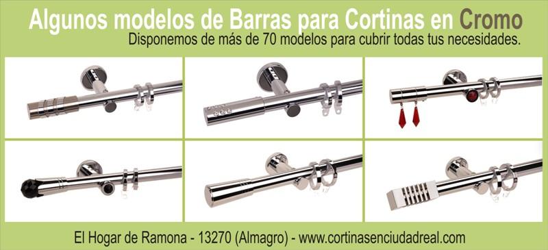 Barras y complementos para cortinas estores panel japones en almagro - Barras para visillos ...